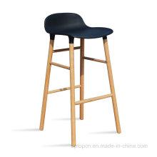 Новое Прибытие пластиковый корпус деревянной ногой барный стул (СП-UBC329)