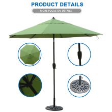Metal Frame large market outdoor beach umbrella