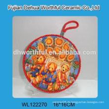 Großhandel Russland Typ schöne Keramik Topfhalter mit Seil Seil