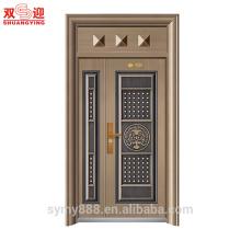 Lowes porte en fer forgé de sécurité porte principale conçoit la double porte