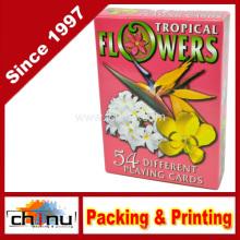 Naipes de las flores tropicales - Baraja de 54 tarjetas (430196)