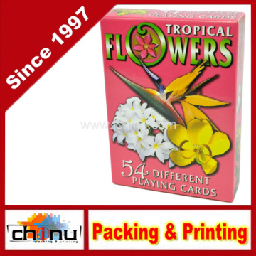 Cartas de jogar tropicais das flores - plataforma de 54 cartões (430196)