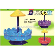 JQB1016 Popular Kids Outdoor Plastic Playground Equipment Mushroom swivel chair, revolving chair