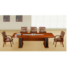 Antique Small Walnut Solid Wood Veneer Conference Table