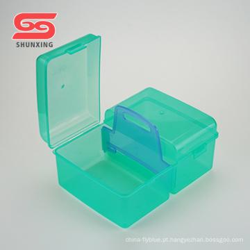 armazenamento vazio pequenas caixas de ferramentas de plástico com alça