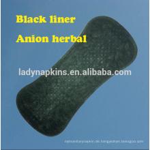 150mm Unique Sauerstoff Baumwolle ultra weiche Kräuter Slipeinlage / schwarze Slipeinlage