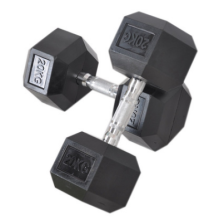 Dumbbell Hexagon Steel e Plastic Dumbbell
