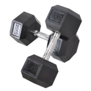 Dumbbell Hexagon Steel and Plastic Dumbbell