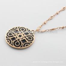 Alibaba proveedor, 2014 collar de oro de moda con la figura clásica para los hombres