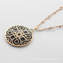 alibaba supplier,2014 fashion gold necklace with classic figure for men