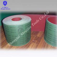 Rolo abrasivo verde do pano do esmeril do óxido de alumínio do tipo 10cmx30m do soldado