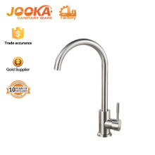 Deck mounted single hole lever handle burshed kitchen mixer