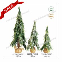 H1.5-2FT PE+PVC Artificial Mini Snowing Christmas Tree Christmas Gift