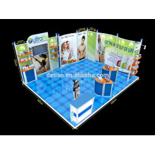 Aluminum profile 20x20 booth space with 3d exhibition design with floor system