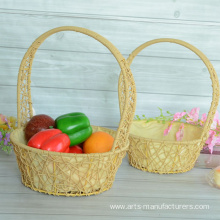 Leading Manufacturer for Fruit Gift Baskets Round Plastic Weaving Flower Basket supply to Japan Factory