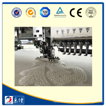 LEJIA 17 heads flat embroidery machine with beads device