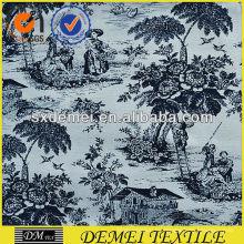 diseño floral de tapicería tela de la impresión grande hecho