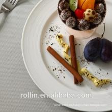 Placa redonda de la porcelana blanca con el borde grueso 7inch ~ 12inch para el hotel y el restaurante
