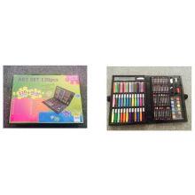 Conjunto de arte de 120pcs para crianças que vivem o conjunto de jantar de arte para desenho de desenho de pintura lápis de lápis de cor de água