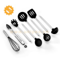 6 Pieces stainless steel Handle Silicone Cooking spoon Kitchen Utensils set