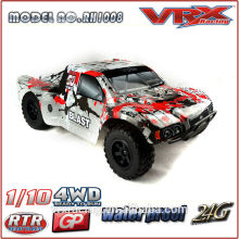 2,4 G RC 1/10th de 4 X 4 Nitro modelo carro, grande roda carro RC