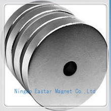Permanent NdFeB Big Disc Magnet with Zinc Plating