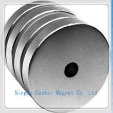 Постоянный неодимовый магнит большой диск с цинковым покрытием