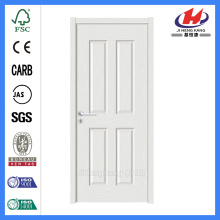 JHK-004P 4 Panel MDF White Apartment Door