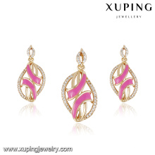 64037- Xuping Fashion Jewelry Earring and Pendant 18k Gold Plated Jewelry Set For Ladies