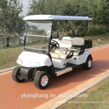 Gasbetriebener Cop-Golfwagen mit 4 Sitzen und Ladebox