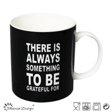 Black Color with Words Printing Straight Coffee Mug