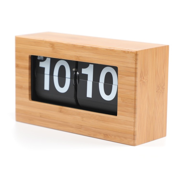 Small Bamboo Flip Clock