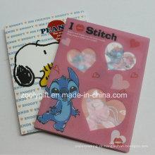 """Desenhos animados de plástico impresso PP / PVC 4X6 """"Álbuns de fotos com caixa de plástico transparente"""