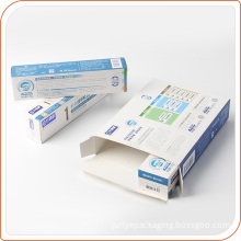 Promotional paper box packing toothpaste top quality paper box
