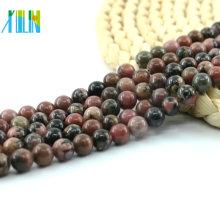 Seltene natürliche schwarze Linie rosa Rhodonit, Rhodonit Jaspis DIY Schmuck Perlen, L-0143