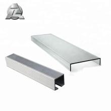Profilé de profilé profilé en U pour profilé profilé en U extrudé en aluminium anodisé 6063 T6