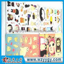 OEM clear hanging plastic sticker from factory, fashion present stickers for kids