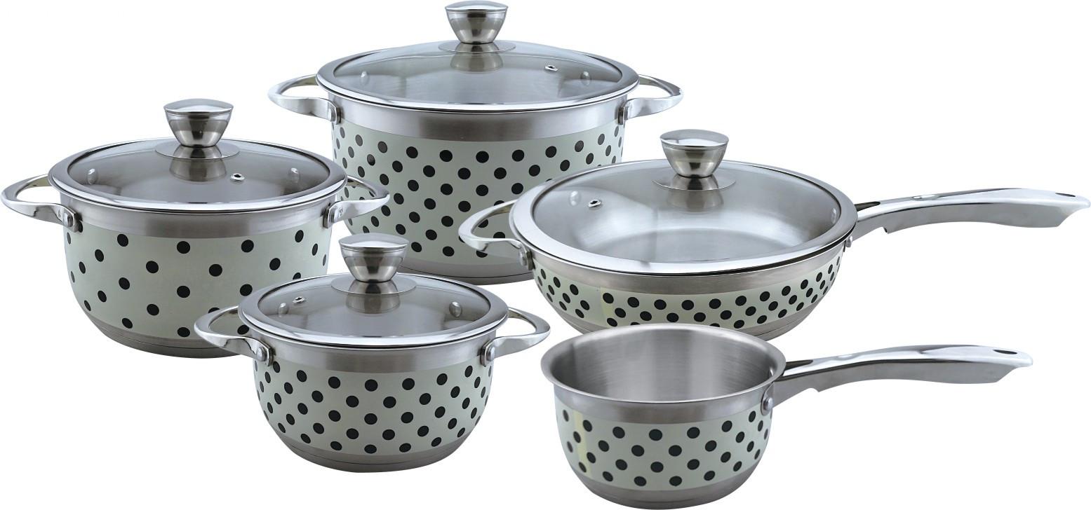 Dot painting 9pcs cookware set