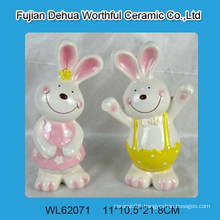 Lovely colorful ceramic Easter bunny