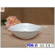 Unterschiedlicher Größe Blattform weiße Porzellan Schüssel produziert
