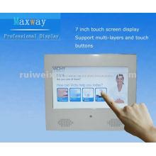 7 pulgadas táctil reproductor de publicidad lcd de pantalla
