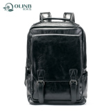 Amazon Fashion PU Leather Laptop Backpack for Men