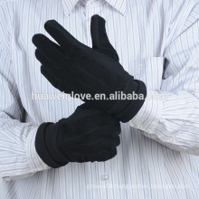 Leisure Trend Men's Black Suede Winter leather Gloves