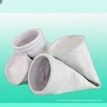 Sac filtrant de poussière avec le sac de filtre de poussière de polyester non-tissé de feutre de polyester