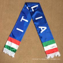Trasfer Printing Италия атласный шарф с веерами
