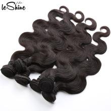 Venta caliente Leshine pelo sin procesar del cuerpo Wave grado 8A virginal brasileño del pelo