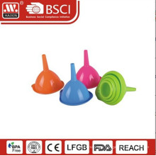 Haixing silicone foldable filling funnel