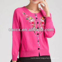 13STC5301 vintage ladies hand embroidery sweater