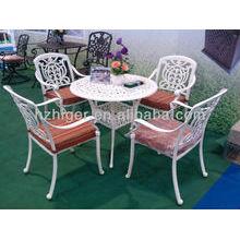 Silla de jardín blanca europea y muebles de mesa