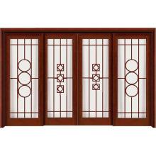 Puerta de madera del estilo tradicional chino de arte con vidrio de arte
